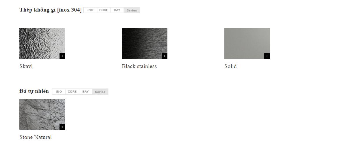 Hệ màu của tủ bếp luxury Toyo Kitchen Style 3