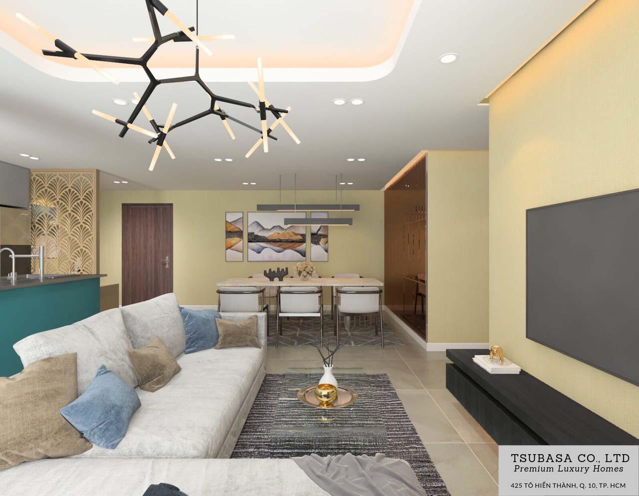 Nội thất căn hộ Sunrise Riverside Nhà Bè 110m2 3