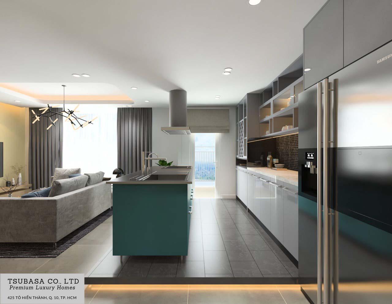 Nội thất căn hộ Sunrise Riverside Nhà Bè 110m2 5